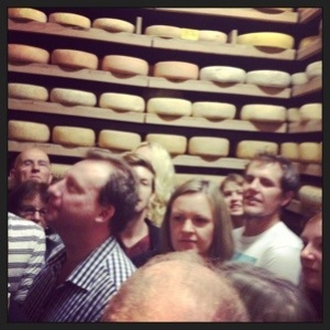 Like clowns in a clown car, we piled in to learn about the cheese we were dying to taste.